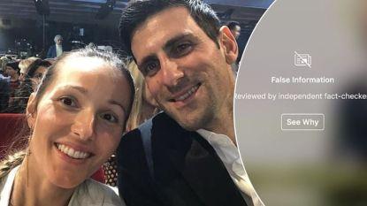 Terwijl Djokovic zich out als een anti-vaccineerder, bant Instagram post van vrouw Jelena als 'fake news'