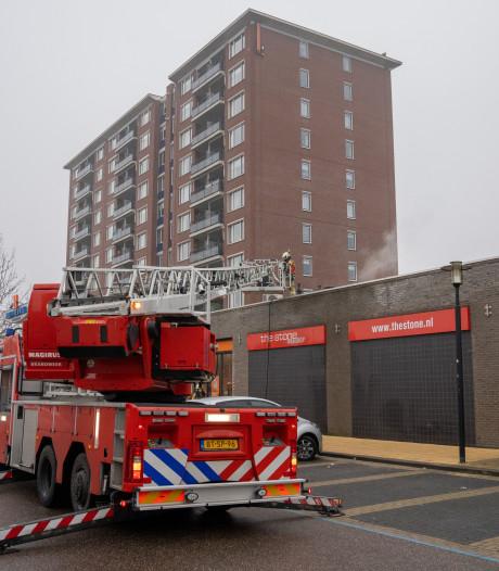 Helftheuvelpassage in Den Bosch tijdelijk ontruimd geweest na brand op dak