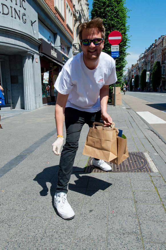 Tom Van Der Haegen ruimde mee op in Leuven. Hij kreeg vorig jaar een nieuw hart na een oproep in het programma.