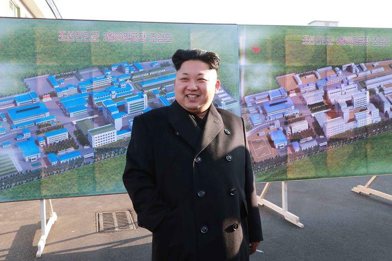 De Noord-Koreaanse leider Kim Jong-Un. Beeld belga