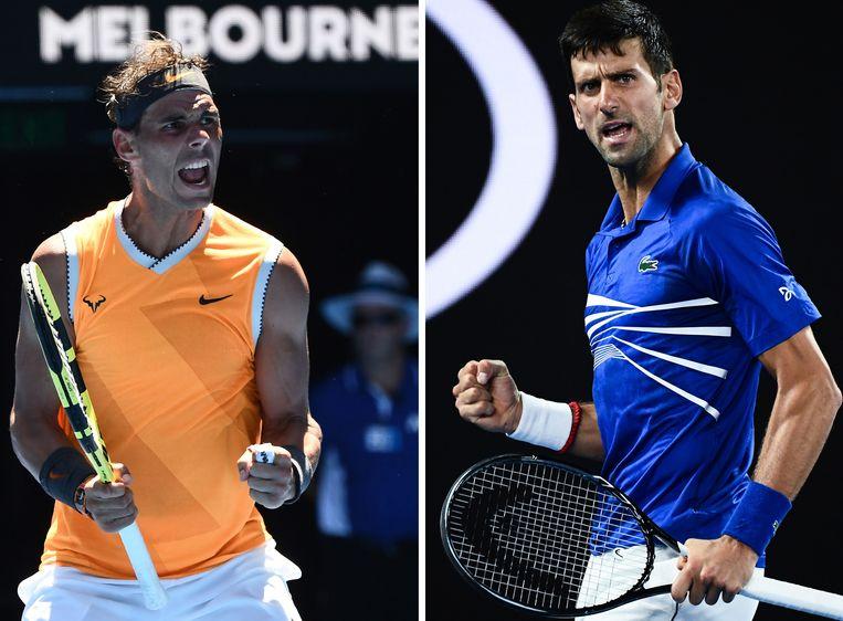 Nadal versus Djokovic in de finale van de Australian Open.