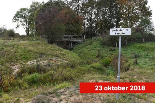 De Oeffeltse Raam stond droog in oktober.