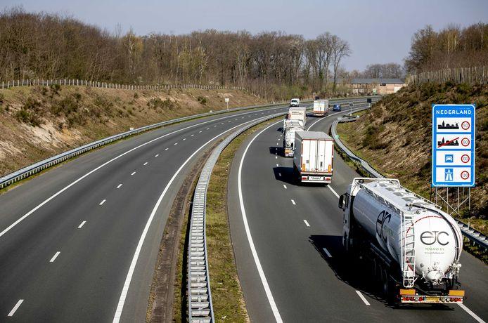 De grensovergang bij Venlo.