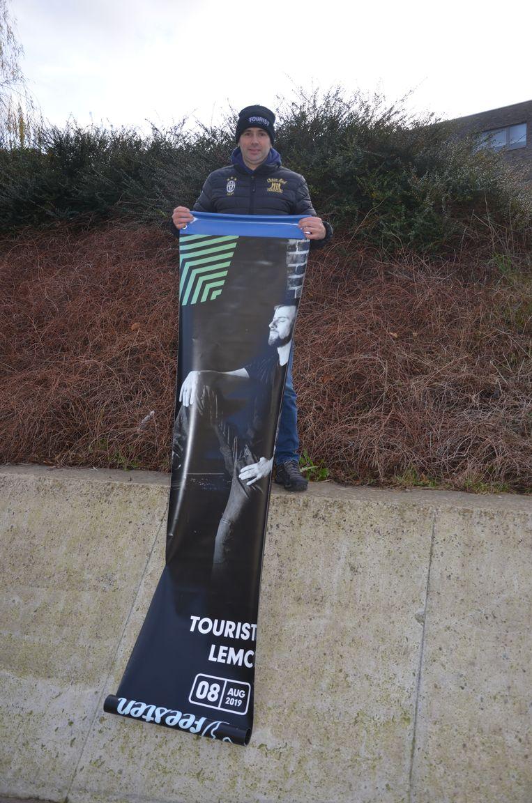 Rudi ging met de banner van Tourist Lemc naar huis.