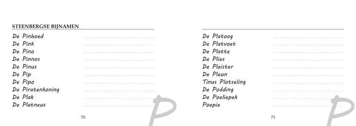 Heemkundekring De Steenen Kamer heeft boekje uitgegeven met Steenbergse bijnamen.