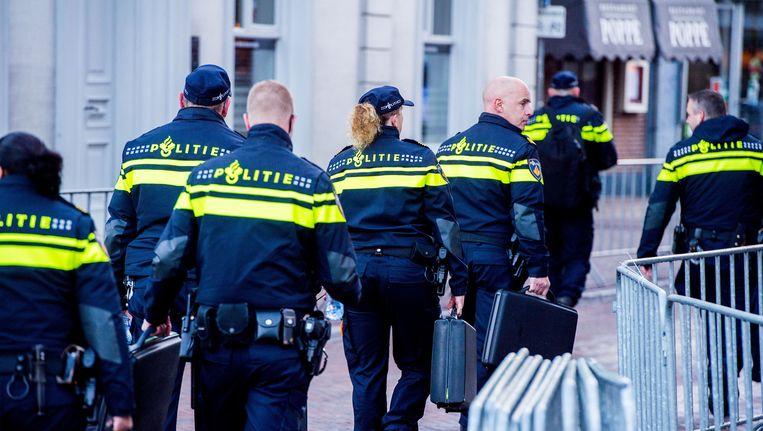 De ziekteverzuim bij de politie is heel hoog, blijkt uit cijfers van de inspectie. Dat komt voornamelijk door stress. Beeld ANP