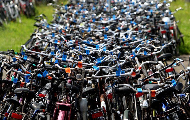 In grote steden als Amsterdam worden veel fietsen gestolen.  Beeld anp