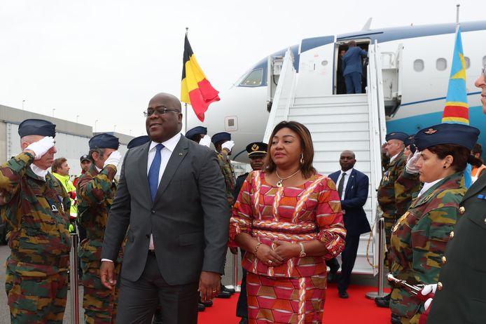 Felix Tshisekedi à son arrivée en Belgique