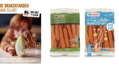 Delhaize 'tovert' met groenten voor kinderen: 'drakentanden', 'oranje raketten' en 'kikkerski's'