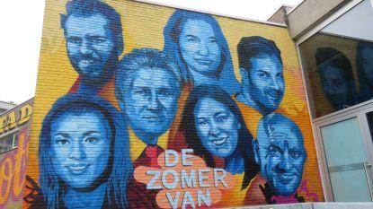 Gezichten van VTM-programma 'De Zomer Van' sieren gevel van Spillebad