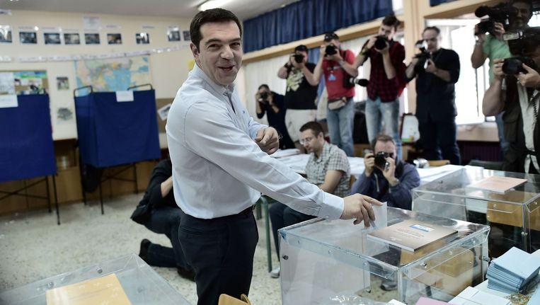 Syriza, dat met Alexis Tsipras ook het Europese boegbeeld van uiterst links levert.