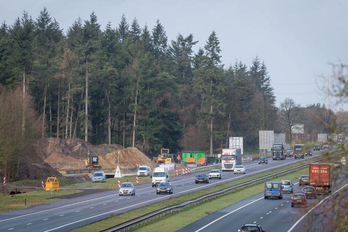 Omwonenden willen dat de bouw van het ecoduct over de A35 opnieuw wordt stilgelegd.