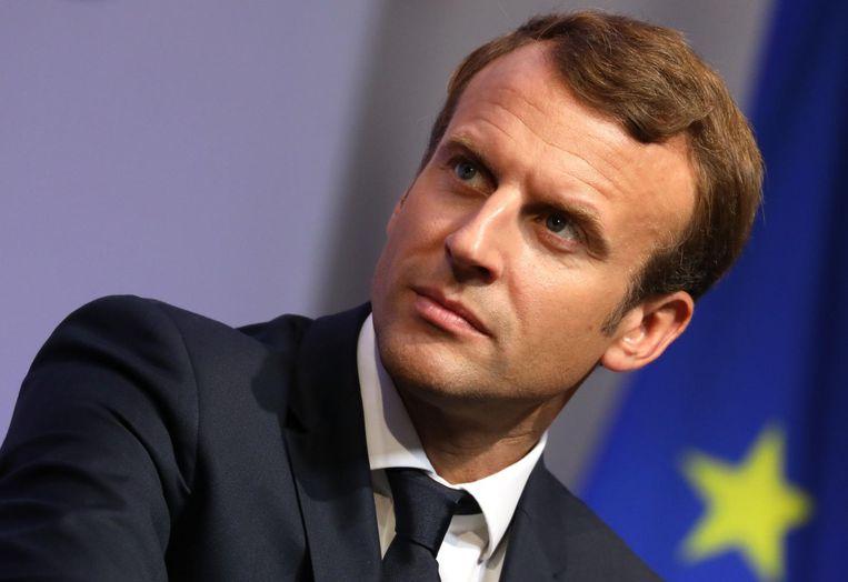 Emmanuel Macron Beeld afp