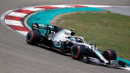 Bottas pakt de pole in China, ploegmaat Hamilton vertrekt vanaf tweede plek in duizendste Formule 1-race