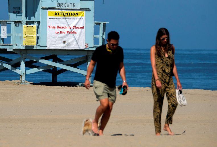 Venice Beach in Los Angeles in Californië was wél gesloten in het feestweekend van de 4th of July.