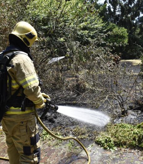 Flinke schade aan Oosterbeekse tuin door brand