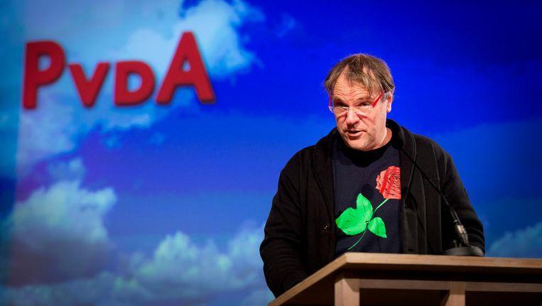 Partijvoorzitter Hans Spekman tijdens het jaarlijkse partijcongres. Beeld anp