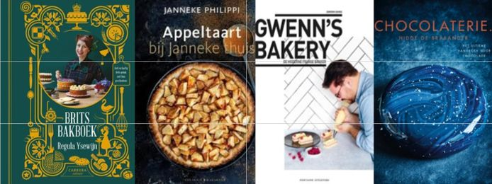 Vier van de favoriete bakboeken.