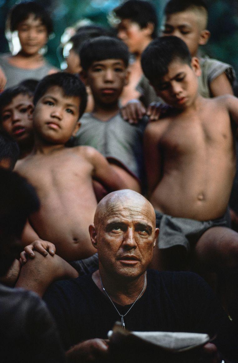 Marlon Brando op de set van Apocalypse Now. Beeld Chas Gerretsen / Nederlands Fotomuseum