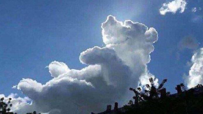 De wolk heeft aardig wat weg van Winnie de Poeh