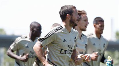 """Aangeslagen Zidane maakt zich zorgen om Hazard, die door pijnlijke enkel ook match tegen Bilbao mist: """"Hopen dat het niet erg is"""""""