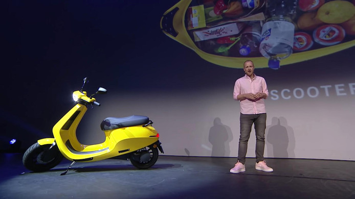 De scooter van Etergo.