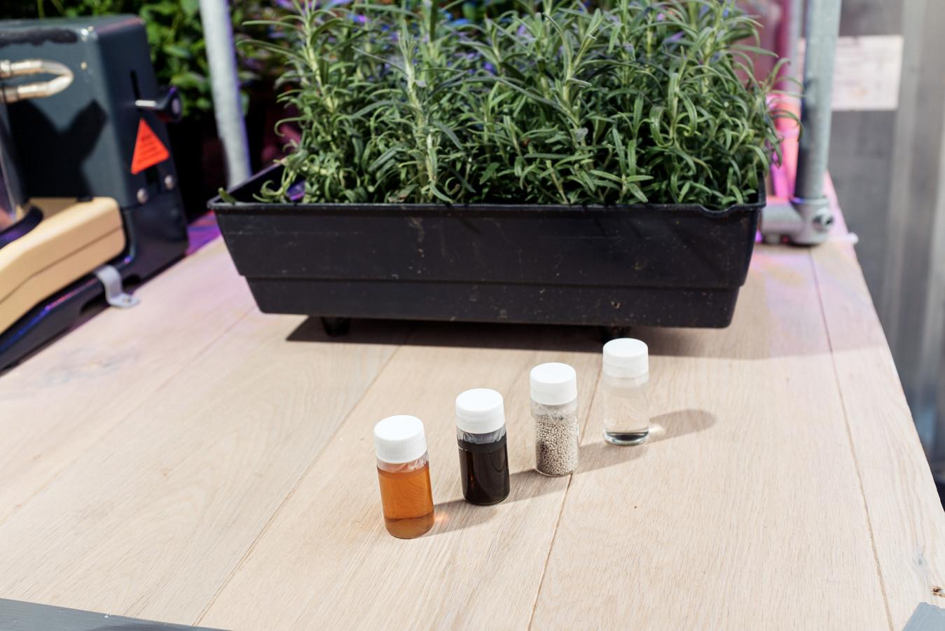 De winning begint bij een GreenPee (vorige foto) en kan zowel droge als natte mest opleveren (deze foto).