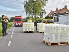 VIDEO: Duizenden liters grondstoffen voor drugs gevonden; 1 man aangehouden
