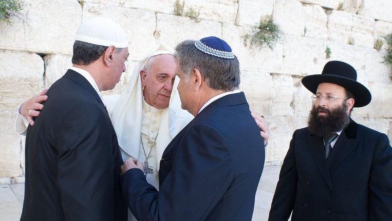 Paus Franciscus in Jeruzalem.