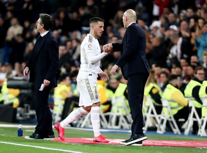 Eden Hazard et Zinédine Zidane.