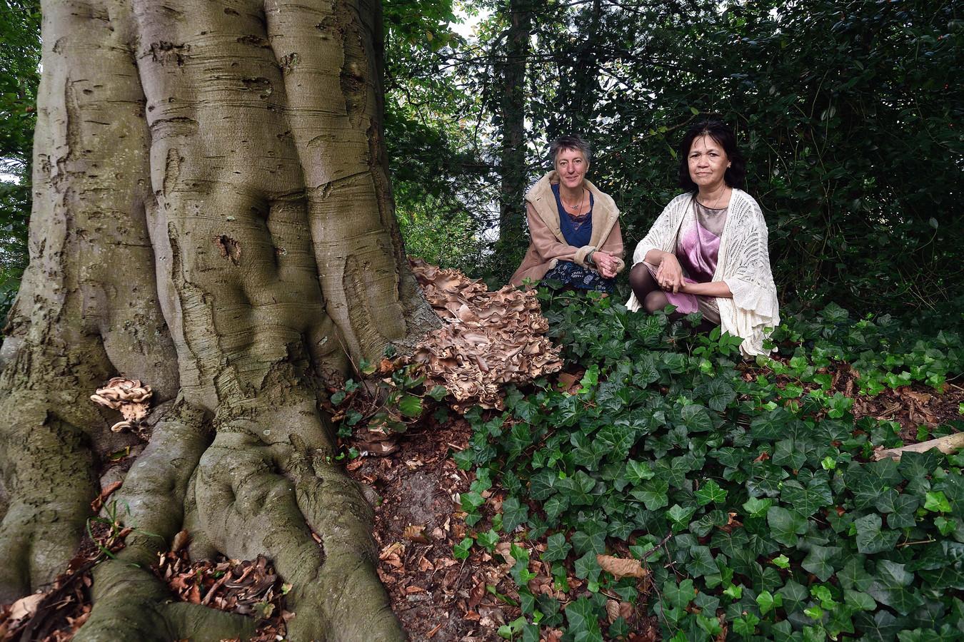 Thea van Dijk (links) en Joyce Beckker willen op verschillende plekken een monument plaatsen voor ongeboren en doodgeboren kinderen.