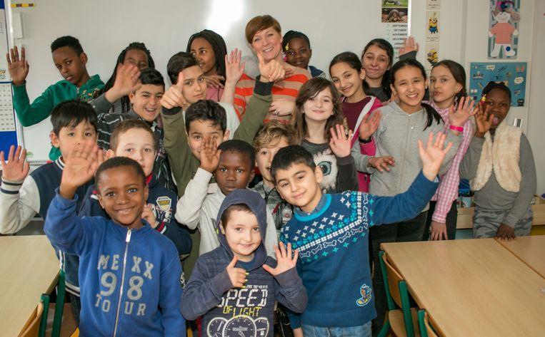 Een onthaalklasje voor anderstalige nieuwkomers in Gavertje Vie in Belsele (archieffoto).