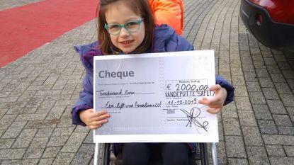 Veiligheidsbedrijf schenkt Annalina 2.000 euro: lift weer stapje dichterbij