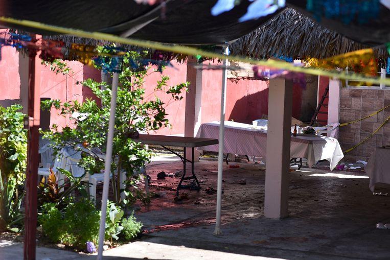 De bar in Minatitlan waar de schietpartij plaatsvond.