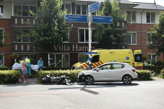 Ongeluk op de Kleefsebaan in Berg en Dal.