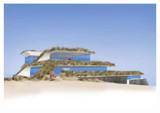 Plan Nieuw hotel Tien Torens. Zeezijde. Ontwerp Timko Lokerse Architecten