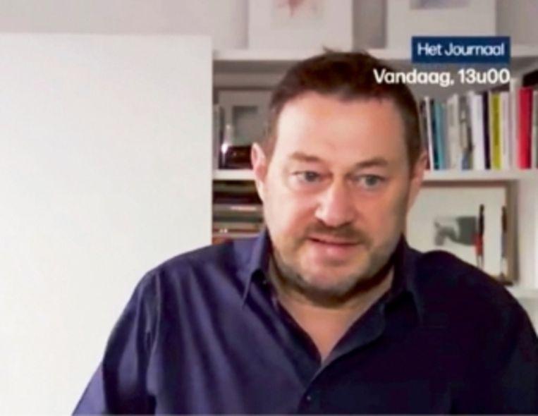 'Bart De Pauw in 'Het journaal'. 'Door zijn gedrag in de media heeft hij zélf het circus geopend,' meent Hilde Van Mieghem'   Beeld