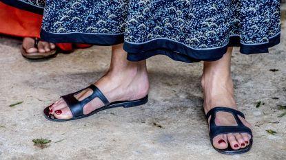 """Alweer modeslippertje voor Maxíma? """"Dit is géén koninklijk schoeisel"""""""