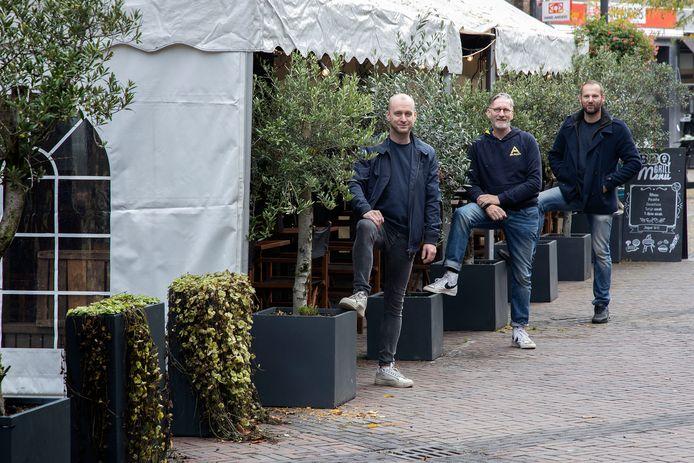 Bestse horeca-ondernemers Jan Verhoeven, Paul Knapen en Paul Priem.