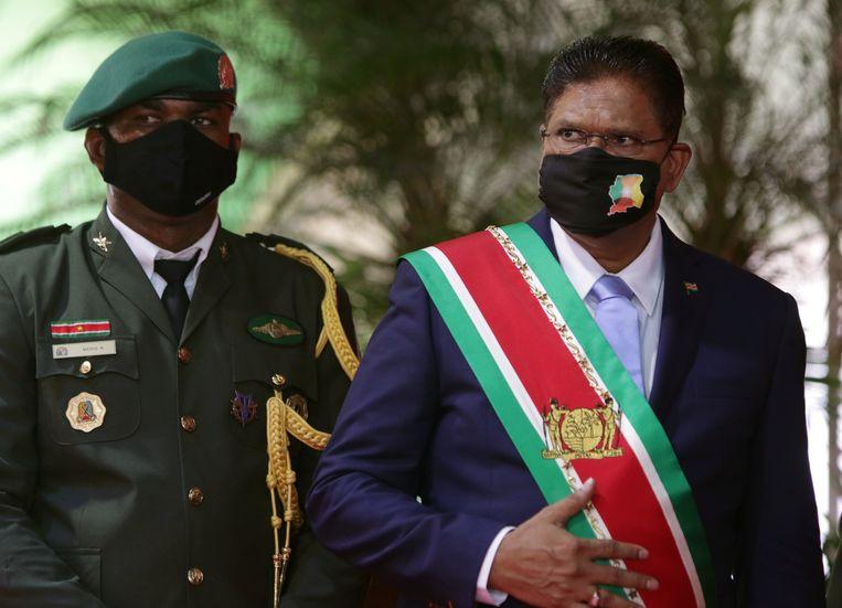 De nieuwe Surinaamse president Chan Santokhi. Beeld REUTERS