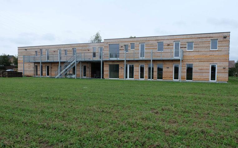 Het nieuwe scoutsgebouw aan de Wavervelden.