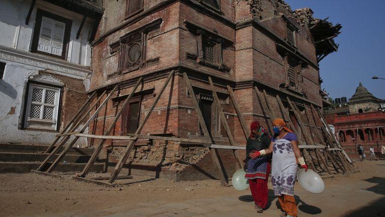 Hanuman Dhoka, het oude koninklijk paleis op het Durbarplein in Kathmandu. Beeld epa