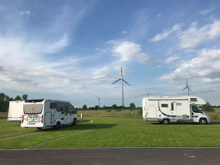 Het kampeerterrein in Gistel biedt plaats aan acht kampeerwagens