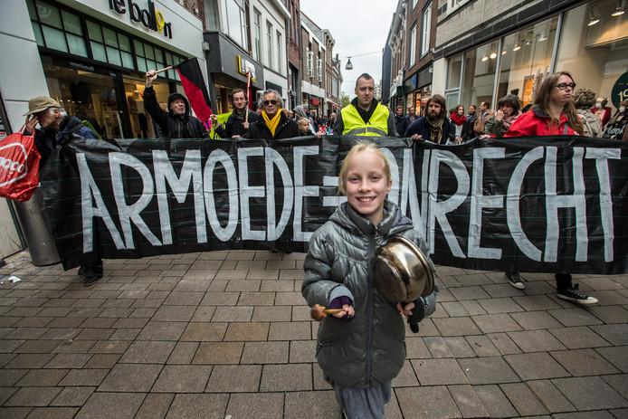 2014: demonstratie van Georganiseerde Weldaad tegen armoede in de stad.