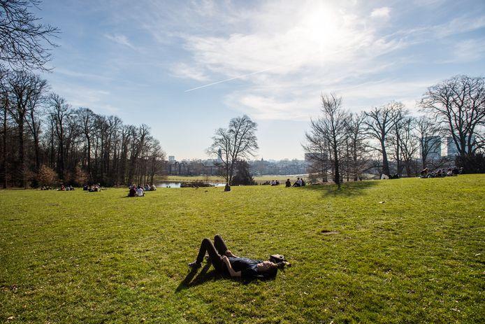 Mensen liggen in het gras in Sonsbeek. Foto ter illustratie.