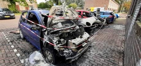 Angstige momenten bij drievoudige autobrand in Apeldoorn: 'Pak de hond, pak de hond'