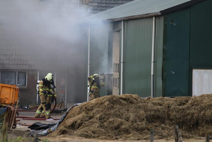 Brand in loods in Den Dungen