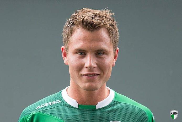 De vrijdag jarige VVOG-speler Roelof de Groot.