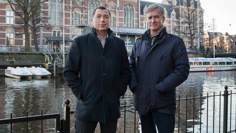 De topmannen van het nieuwe Stromma: Peter Duwel (l) en Jan Larssèn Beeld Charlotte Odijk