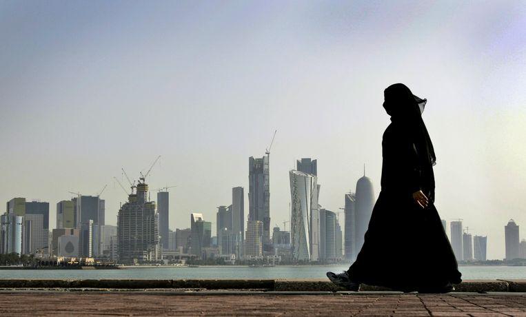 De skyline van Doha, de hoofdstad van de golfstaat Qatar. Beeld AP